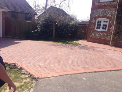 Block Paved Driveway in Letchworth